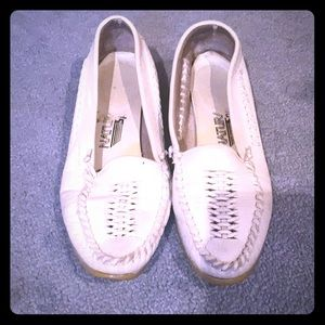 NATURALIZER WHITE SLIP ON  SHOES